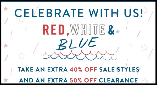 Nautica  ~ Take an extra 40% off of Sale Styles and 50% Off of Clearance Styles with promo code: FIREWORKS (Ends 7/5) + Free shipping with $50 order