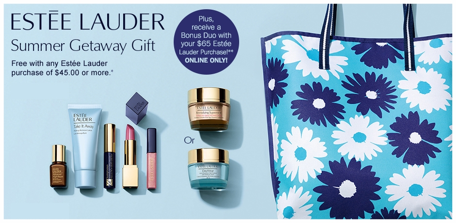 Bon-Ton ~ 50% OFF THE Estée Lauder NEW DIMENSION COLLECTION + Free 7-Piece Estée Lauder Gift with Estée LauderPurchase & Choose Your Free 7-Piece Estée LauderGift + A Free Estée Lauder Summer Duo with $65  Estée Lauder Purchase + A 7-Piece Beauty Sampler with any $99 Beauty & Fragrances Purchase + Free shipping with any beauty order with promo code: BEAUTY