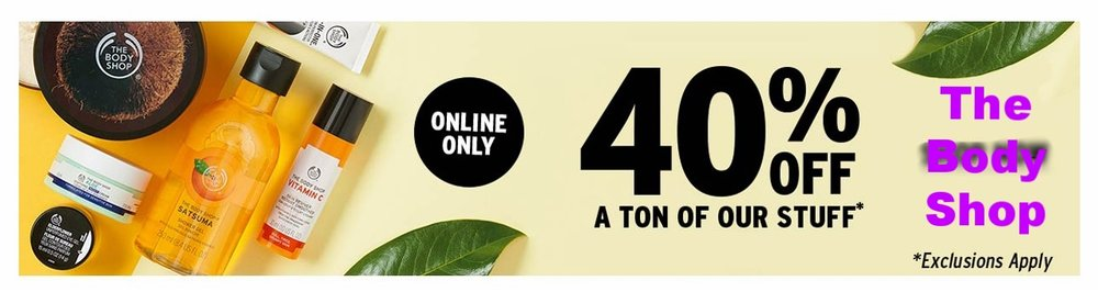 The Body Shop ~  40% Off Select Items  (Ends 7/9 ~ Exclusions apply) + Free shipping with $50 order