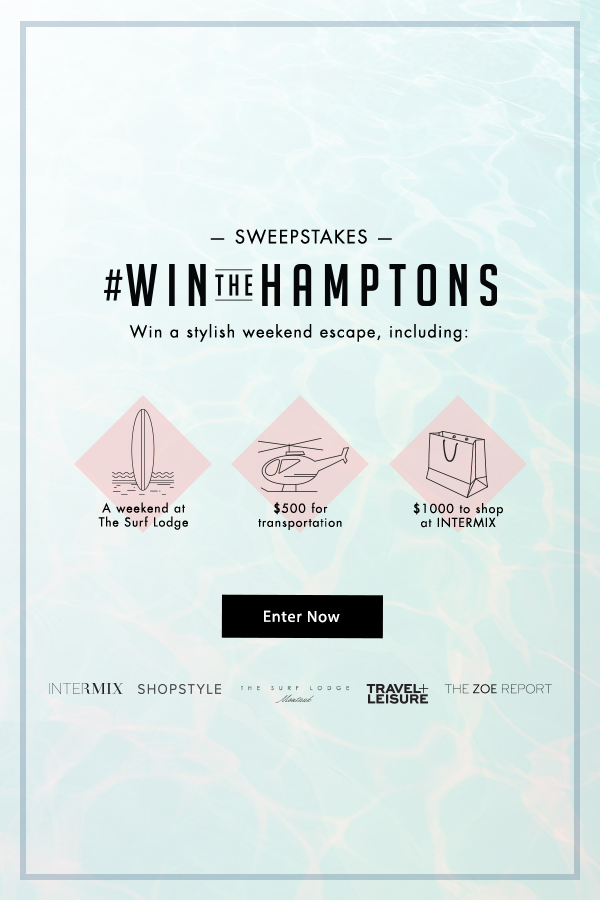 Enter To Win  A Stylish Weekend Escape To The Hamptons ~ Participation open only to legal residents of the fifty United States or the District of Columbia who are at least 18-years-old as of date of entry (Ends  at 11:59pm ET on 8/9) #WinTheHamptons
