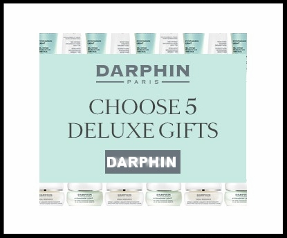 Darphin ~ 5 free deluxe samples with any purchase + Free shipping and returns