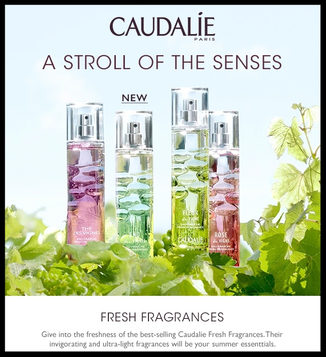 Caudalie ~ FRESH FRAGRANCES ~ Perfumes ~$39 each and Shower Gels ~ $12 each + Free full-size gift and bag with $90 purchase with promo code: HAPPY4TH (Ends 7/14) + 3 free samples + Free shipping
