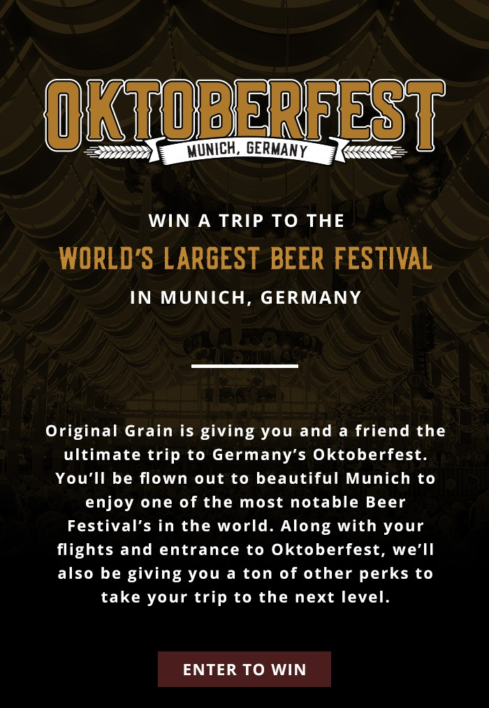 Enter for your chance  to Win a Trip to Oktoberfest in Munich, Germany to Oktoberfest in Munich, Germany ~ Includes:  Hotel Accommodations within walking distance to the Oktoberfest ground  Daily buffet breakfast at your hotel  Private transfer upon arrival and departure  1 Sold Out Beer Tent reservation; it includes 2 beers and a meal, usually a ½ chicken  Full-day excursion to Neuschwanstein Castle (day includes transportation, castle entry, and guided tour)  Bike Tour of Munich (4 hours long with a stop one of the largest biergartens in the world, staff and guest favorite!)  Hearty Bavarian welcome dinner with other Bucket List Events guests  Bucket List Events guide assistance throughout your stay in Munich  A 2017 Oktoberfest T-shirt and an commemorative stein  (Must be 21 and ends 7/14)