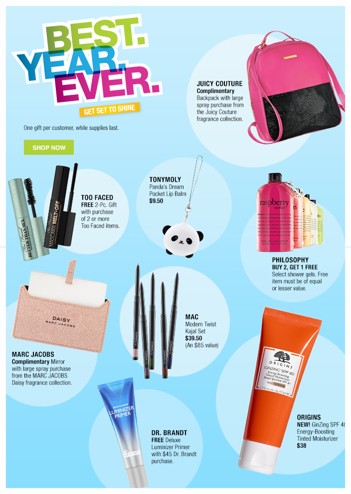 Macy's ~  Awesome Beauty Deals  (Ends 7/25)+ Free shipping and returns on any beauty order