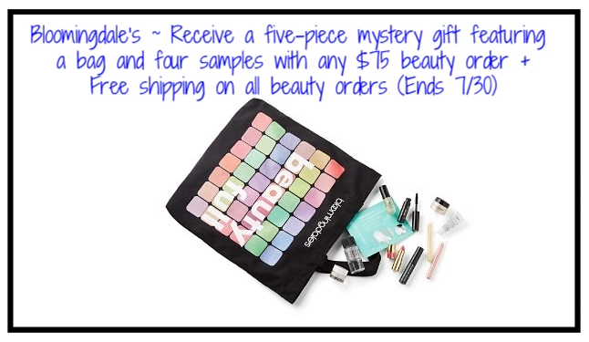 Bloomingdale's ~ GWP Offers Page + Free shipping on all beauty orders (Ends 7/30)