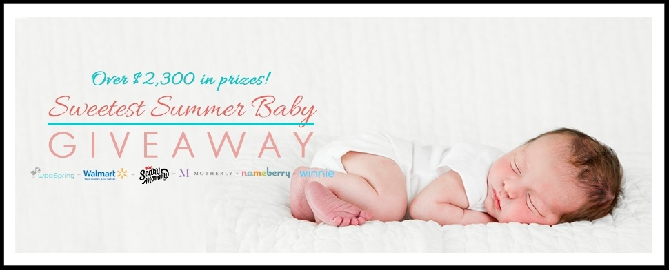 SWEETEST SUMMER BABY GIVEAWAY ~ Enter for a chance to win over $2,300 in prizes (Ends August 3, 2017 at 11:59pm. ET and open to legal residents of the 50 United States and the District of Columbia who are eighteen (18) years of age or older at the time of entry)