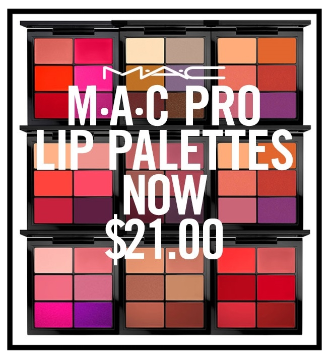 MAC Cosmetics ~ PRO LIP PALETTES (5 Kits) was: $40 now: $21 + 1 free sample + Free shipping and returns