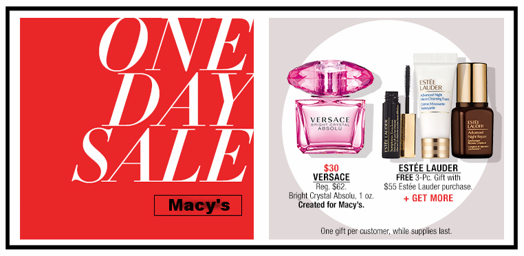 Macy's ~  One Day Sale  (Ends 8/5)  + Free shipping and returns on any beauty order