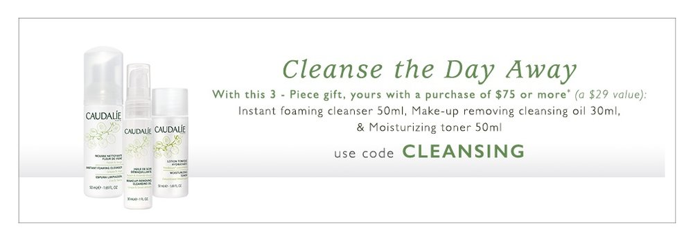 Caudalie  ~ Free Skincare Duo ($29 value) with promo code: CLEANSING (Ends 8/9) + Free 3 samples on every order  + Free shipping