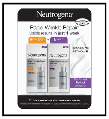 Sam's Club  ~ Neutrogena Rapid Wrinkle Repair (1 fl. oz., Day & Night 2-Pack) ~ $29.99 + Free shipping (Rapid Wrinkle Repair®Moisturizer Broad Spectrum SPF 30 ~ $21.99 at  Neutrogena  and Rapid Wrinkle Repair® Night Moisturizer ~ $21.99 at  Neutrogena )