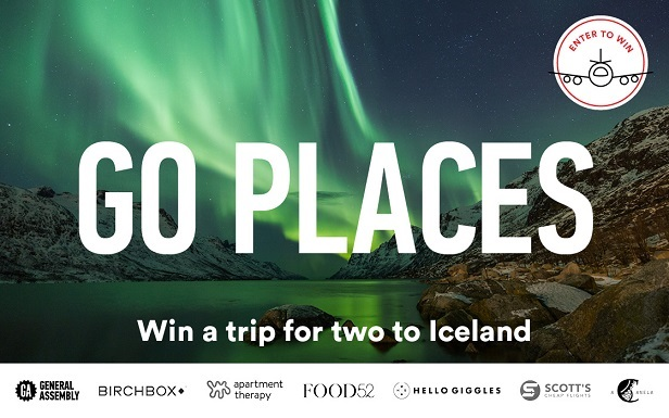 GO PLACES: Iceland    Experience the magic of fire and ice . You could win a trip to Iceland and experience some of nature's most unique landmarks. Stand between two tectonic plates, swim in icy blue geothermal waters, and trek to see the island's most picturesque spots. Enter by  Sunday, September 3 ,  for your  chance to win :  A  $1,000 travel credit  to fly to Iceland.  Four nights' accommodation  for two in Reykjavik. An epic tour of the  Golden Circle , including the historic  Thingvellir National Park , geothermal geysers at Haukadalur , a hike to  Gullfoss  waterfall, and a trip see  Kerid Crater Lake . A relaxing spa day at the famous  Blue Lagoon . A  GA swag pack .  (Eligibility to participate in the Promotion or to win prizes is limited to individual persons at least eighteen (18) years of age at the beginning of the Entry Period. Limit one (1) entry per individual. Multiple participants are not permitted to share the same email address.)