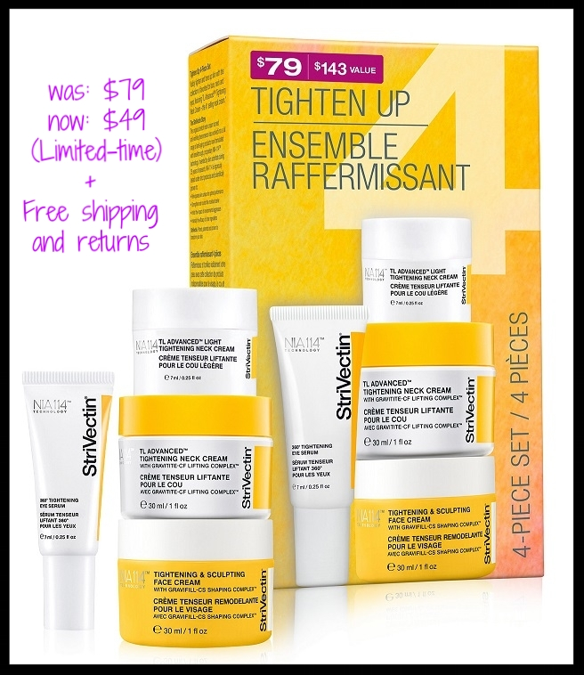 Macy's ~ StriVectin ~  4-Piece. Tighten, Lift, & Contour Kit  ($143 value) was: $79 now: $49 + Receive A FREE 10-Piece Beauty Sampler With Any $65 Online Beauty Purchase + Free shipping and returns on any beauty order