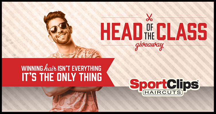 Sports Clips ~ Head of the Class Giveaway ~ Sports Clips wants you to leap to the Head of the Class with our prize package of back to school gear, complete with a years' worth of free haircuts! Enter for your chance to win, and you can treat yourself to an MVP Experience so you're looking great before you head back to school. Because winning hair isn't everything, it's the only thing.   You could win: Motorized Skateboard Apple MacBook Apple iPad Mini Fitbit Blaze Herschel Supply Co. Backpack Free haircuts for a year plus hair products  (Open only to individuals who are living within, and are legal residents of, the 50 United States and the District of Columbia, and who are at least 18 years of age as of the date of participation. Ends at 5:00 P.M. (EDT) on August 25, 2017)
