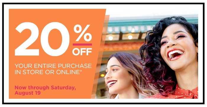 Ulta  ~ Check your email for an exclusive 20% Off Code (Ends 8/19 ~ Coupon offer valid on all regular price and sale merchandise. Not Valid On CHANEL, Dyson, Services, & Urban Decay Naked Heat Palette. Cannot be redeemed for cash or gift cards.) + Free samples + Free shipping with $50 order