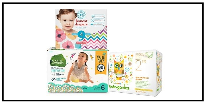 Target  ~ Free $10 Gift Card when you buy 2 Honest Company, Babyganics, or Seventh Generation diapers (Ends 8/19 at at 11:59pm PT) + Free shipping with $35 order