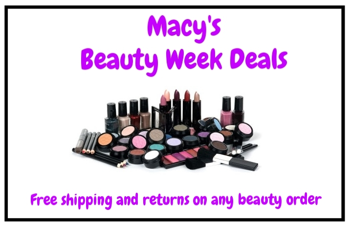 Macy's ~  Beauty Week Deals  (Ends 8/23) + Lots of GWPs + FREE Cosmetics Pouch With Any $75 Online Beauty Purchase + Free shipping and returns on any beauty order