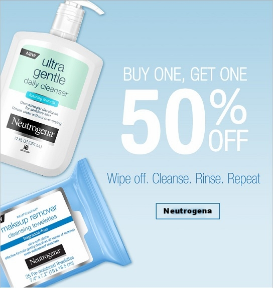 Neutrogena ~ Perfectly Paired!  Buy One, Get One 50% Off Site-wide  (Ends 8/31) + Free shipping with $25 order