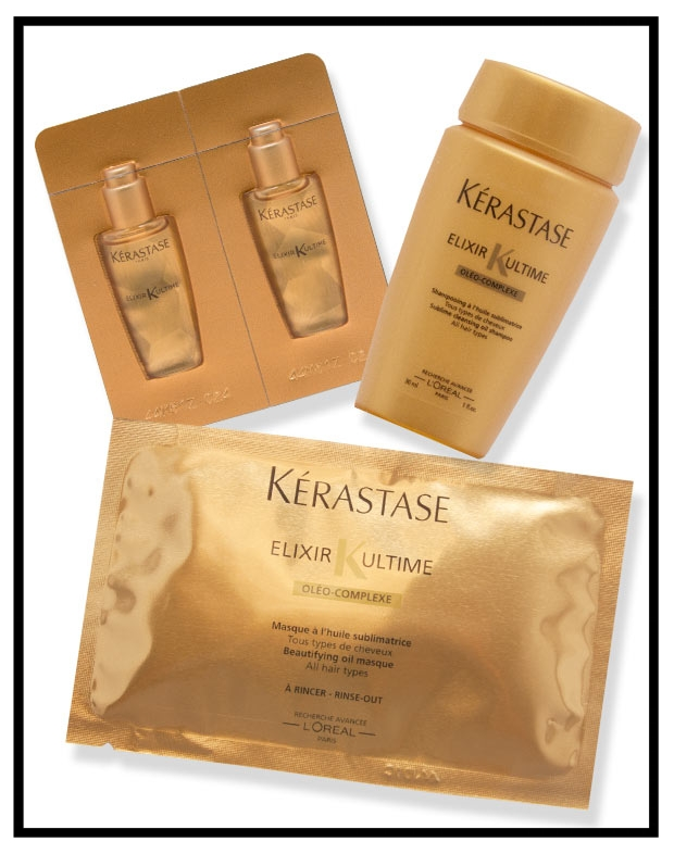 KÉRASTASE  ~ Receive 3 complimentary Elixir Ultime samples & free shipping with orders of $85 or more with promo code:  GOLD17 (Ends   August 21, 2017 at 7:30 A.M. EST.