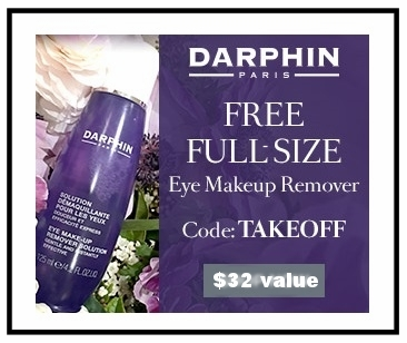 Darphin  ~ Free full-size Eye Makeup Remover ($32 value) with $75 purchase with promo code: TAKEOFF (Ends 8/17 at 11:59PM PST) + 3 free samples with any order + Free shipping and returns on all orders