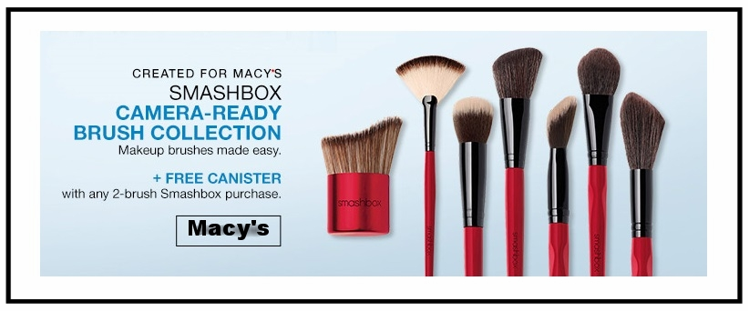 Macy's ~ Smashbox ~ Camera-Ready Brush Collection (Created for Macy's) ~ $20 - $42 + Free Canister with 2-Brush purchase + Free shipping and returns with any beauty purchase