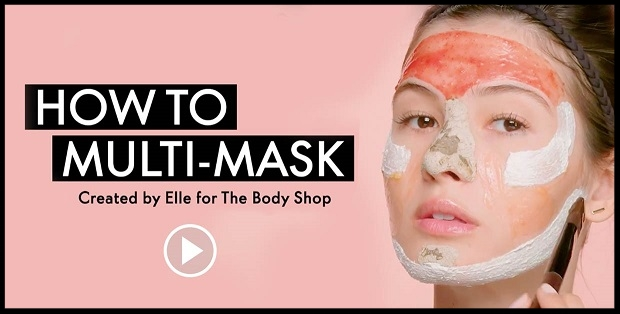 The Body Shop ~ How to Multi-Mask Created by Elle for The Body Shop Video + 30% Off + Free shipping (Exclusions apply)