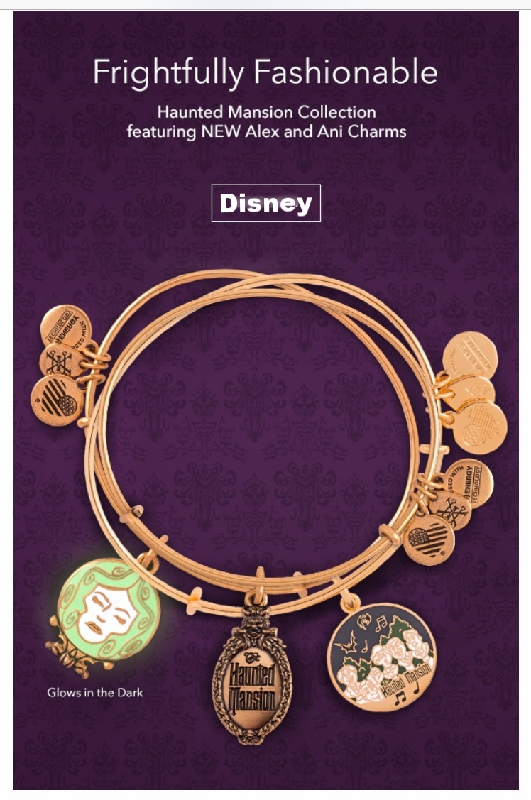 Disney Store ~ Haunted Mansion Collection by Alex and Ani ~ $39.95 - $44.95 + Free shipping with $50 order with promo code: SHIP50 (Ends 12/31)