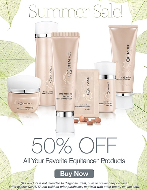 Equitance  ~ 50% Off Your Favortie Products (Ends 8/25) + Free deluxe sample with every order that includes a full-size product + Free shipping on all