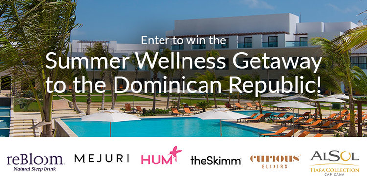 Summer Wellness Getaway to the AlSol Tiara Cap Cana in the Dominican Republic! Enter for a chance to win a trip to a beautiful all-inclusive resort in the Dominican Republic, credit towards airfare, and summer wellness essentials. Your package includes: A 3-night stay at the beautiful, all-inclusive AlSol Tiara Cap Cana Resort $750 towards airfare 3-Month Supply of HUM Nutrition 3-Month Supply of reBloom Sleep Drinks  A case of Curious Elixirs booze-free craft cocktails (Open to anyone who is at least eighteen (18) years of age and has reached the age of majority in their jurisdiction of residence at the time of opt-in (19 in Alabama and Nebraska; 21 in Mississippi) and lives within the continental United States and has a valid email address. Ends 9/15 at  11:59pm EDT)