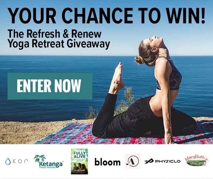 "Enter for your chance  to win The Refresh and Renew Yoga Retreat Giveaway!  WIN THE ULTIMATE  YOGA RETREAT!  Enter for a chance to win the adventure of a lifetime - an all expense paid trip on a relaxing, refreshing yoga retreat in Upstate, NY.     Your package includes:  A 3-night yoga retreat for one Daily yoga and wellness workshops Hiking day trip Boat trip to a private island on Lake George 3 healthy meals per day prepared by a private chef, and more!  Prize will also include:  3 luxury bathing suits from Andie  2 pairs of Pro Resistance workout pants from Physiclo  1 lb of RUNA Organic Clean Energy Loose Leaf Guayusa Tea and a signed copy of Tyler Gage's new book ""Fully Alive: Using the Lessons of the Amazon to Live Your Mission in Business and Life""  The Triad of Health Basket from MaryRuth Organics: Vegan Liquid Morning Multivitamin, Vegan Liquid Nighttime Multi-mineral, and USDA Organic Liquid Plant Based Probiotics  ( Open to anyone who is at least eighteen (18) years of age and has reached the age of majority in their jurisdiction of residence at the time of opt-in (19 in Alabama and Nebraska; 21 in Mississippi) and lives within the continental United States and has a valid email address. Ends 9/3/2017 at 11:59pm EDT.)"