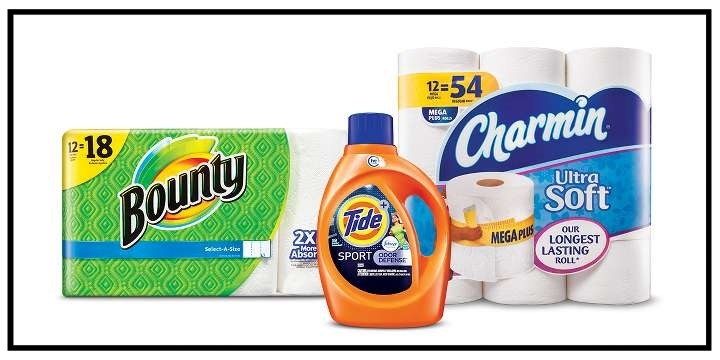 Target ~ $10 Gift Card when you buy 3 select Tide, Gain, Downy, Dreft or Bounce laundry care; Bounty or Charmin paper products; Cascade dishwasher detergent; or Glad trash bags household items. (Expires 9/2/2017 at 11:59 pm PT.) + Free shipping with $35 order