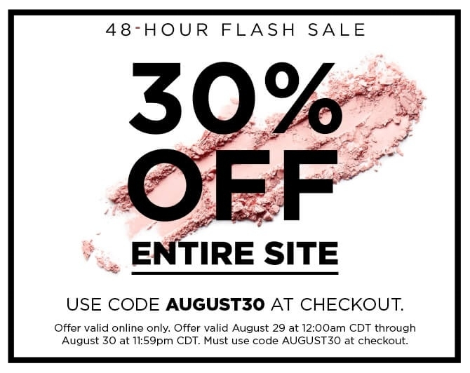 Sigma Beauty  ~ 48-Hour Flash Sale ~ 30% Off Entire Site with promo code: AUGUST30 (Ends August 30th at 11:59pm CDT) +  Sale Page  + Free gift with $50 purchase + Free shipping