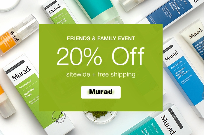 Murad ~ 20% Off Site-wide with Promo Code: MURAD20 + Free shipping (Ends 9/13/2017 11:59 PT) + 3 free samples with any order
