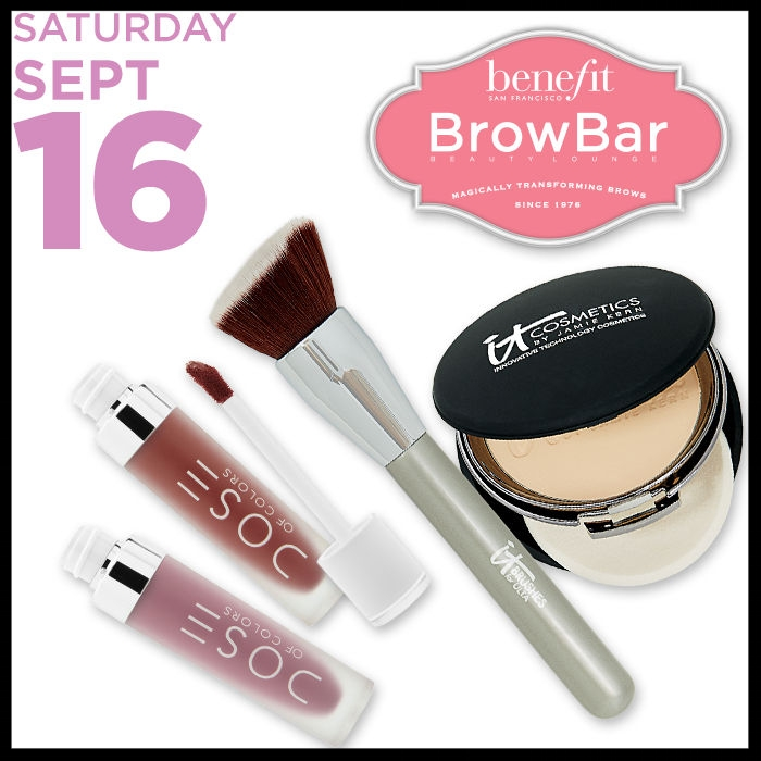 Ulta ~ FREE 25-Piece Beauty Bag with any $150 purchase (Platinum Perk ~ Online Only ~Just add to cart) + Free BUTTER LONDON Deluxe Oh My, How High! Mascara with any purchase (Available to everyone ~ Just add to cart) + LIVING PROOF Deluxe T.B.D. Multi-Tasking Styler  (Available to everyone ~Just add to cart) + 21 Days of Beauty Event  ~  IT COSMETICS Celebration Foundation  (5 Shades ~ 50% OFF) ~  Reg: $35 Now:$17.50 Plus FREE Discover IT Kit with any $45 IT Cosmetics purchase/ IT BRUSHES FOR ULTA Airbrush Complexion Perfection Brush #115 (50% Off) Reg: $24 Now: $12  Plus FREE Discover IT Kit with any $45 IT Cosmetics purchase \ DOSE OF COLORS Matte Liquid Lipstick  (25 Colors ~ 50% Off ~ Online Only) Reg: $18 Now: $9 +  BENEFIT BROW SERVICE  **Free brow wax with any $50 Benefit purchase ( $21 VALUE) Plus FREE Makeup Bag with any $45 Benefit purchase and FREE deluxe Gimme Brow Volumizing Fiber Gel with any $45 Benefit purchase + Ulta Beauty Deals:Ulta Automatic & Gel Eye Liner Pencils REG: $8 NOW: $3 each and  Mascaras & Select Classic Bath and Romance Collection REG: $9.50 - $14.50 NOW: $4 each (Ends 9/16) + $3.50 OFF YOUR $15 PURCHASE with promo code: 503701 (Ends 9/23 and excludes prestige brands)+ Free Beauty Steals ship free for Platinum Ultamate Rewards Members or Free shipping with $50 order + free samples with any order ~ Check your  Ultamate Rewards Account for Bonus Points Offers ~ 5X Points on Real Techniques & EcoTools for Ultamate Rewards Members (Ends 9/23) + 5X Points on Sexy Hair + 5X Points - Maui Moisture for Ultamate Rewards Members (Ends 9/16) +5X Points - Yves Saint Laurent Black Opium Fragrance Crush for Ultamate Rewards Members (Ends 9/30/17) + Hot Buys ~ Up to 50% Off Select Items (Ends 9/23) + Wella Haircare ~2 for $20 (Excludes Jumbo Sizes) & 3 Free Wella Gifts ~ 1) FREE travel-size Oil Reflections Luminous Smoothing Oil with any $20 Wella purchase (Ends 9/30) 2) FREE travel-size Oil Reflections Luminous Conditioner with any $20 Wella purch
