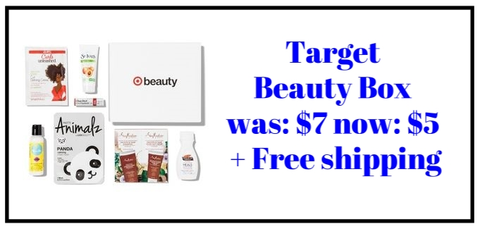 Target Beauty Box  (September) ~ was: $7 now $5 + Free shipping   Animalz Sheet Mask - Panda (1-sheet) ~ $3.99   (retail value)    Chapstick Total Hydration- Blood Orange ~ $2.99 (retail value)