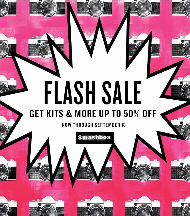 Smashbox ~ Up to 50% Off Flash Sale on Select Items ~  Palettes and Kits  (Ends 9/18) + Free 3-Piece Minis with $40 purchase with promo code: 3FORME (Ends 9/24) + Free sample + Free shipping and returns