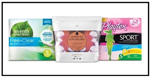 Target ~  $5 Gift Card when you buy 3 select U by Kotex, Tampax, Stayfree, Seventh Generation, Playtex, L Organic, Carefree, or Always feminine care products  (Ends 10/7/2017 at 11:59 pm PT.) + Free shipping with $35 order