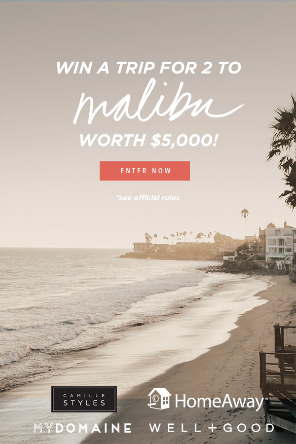 ENDLESS SUMMER SWEEPSTAKES ~ WIN A TRIP FOR 2 TO ($5,000 value) ~  Enter for your chance  to win this fab contest!  The Prize includes:  HomeAway vacation rental in Malibu for 3 nights  Surf Lessons   Dinner at Malibu Farms  $500 Malibu shopping spree to Paige  Airfare for two (up to $1,000)  $500 dining / spending stipend  (Open to legal residents of the United States who are 18 or older. Contest ends on November 1 at 11:59 PM CST)