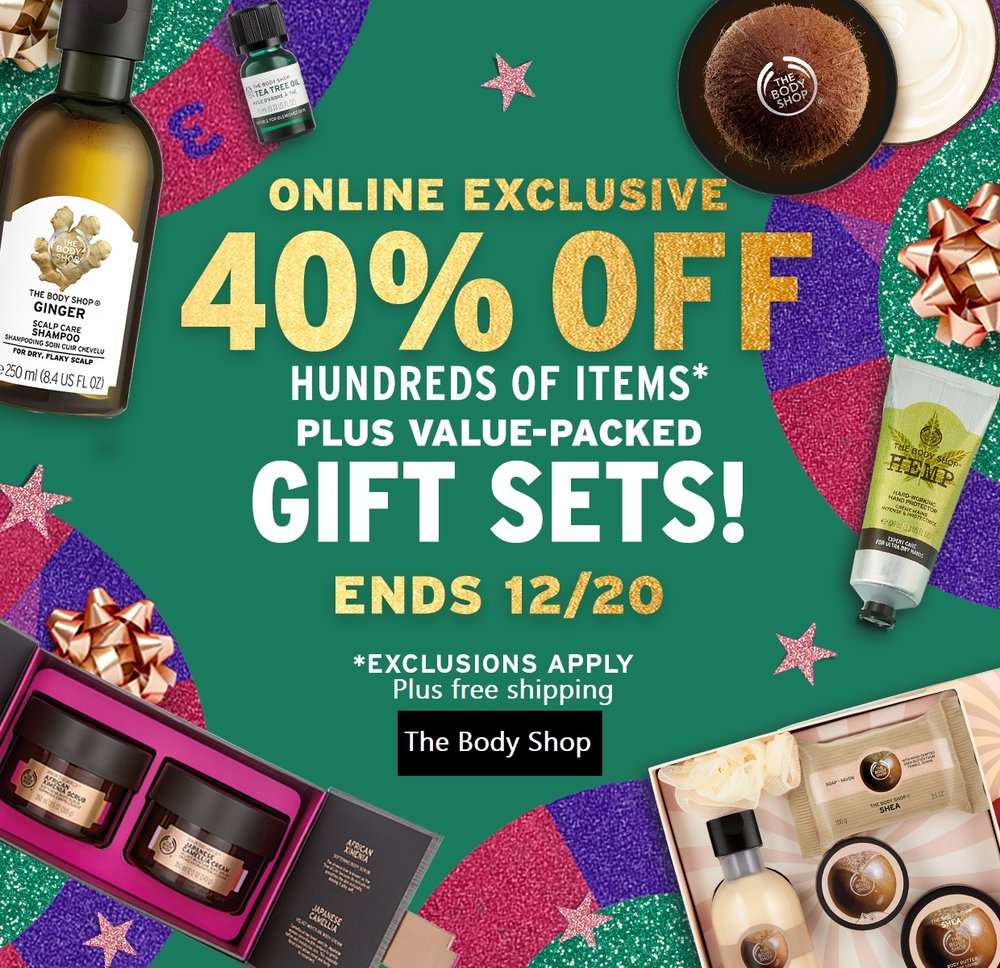 The Body Shop  ~ 40% Off (Ends 12/20) + Free shipping