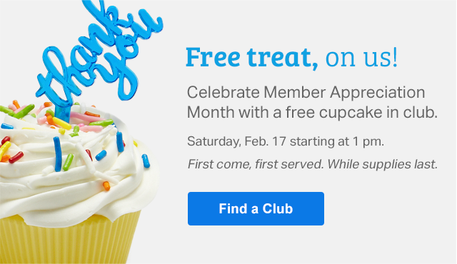 Sam's Club ~ Celebrate Member Appreciation Month with a free cupcake in club! Saturday, February 17th starting at 1 pm! First come, first served. While supplies last!  Find your club !