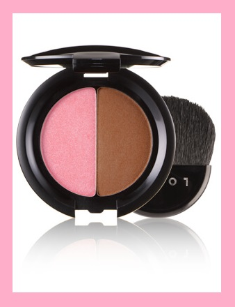 Lorac ~ LORAC BLUSH/BRONZER DUO  Reg: $30 Now: $15 (Final Sale: Not eligible for returns or exchanges) +Free shipping   Carol's Red Carpet Tips:   Gives you that fresh, healthy, beachy look…instantly.  Wear alone or mix together depending on the sun-kissed look you desire.  Flecks of pearl give the skin a sexy, warm glow bronzer.  Wear alone or mix together depending on the sun-kissed look you desire.  Do a whole face with Hot Flash: use it on eyes and cheeks with a little mascara and lip gloss – you have a whole face done!