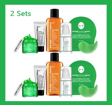 QVC ~  Peter Thomas Roth Set of 2 Cult Classics Collection  Reg: $76 Beauty IQ Steal: $62 + Free shipping   Includes:  Two 4.2-fl oz Cleansing Gels  Two 0.5-fl oz FIRMx Peeling Gels  Two 1-fl oz Max Sheer All Day Moisture Defense Lotions  Two 1.7-fl oz Cucumber Gel Masks  Two pairs of Cucumber De-Tox HydraGel Eye Patches