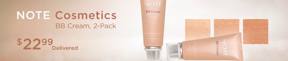 Costco (No membership needed) ~  NOTE Cosmetics BB Cream  (2-pack) $22.99 (3 shades) + Free shipping (1 BB Cream Tube is $19.99 at  Note Beauty )  Features:  (2) 1.2 fl oz BB Cream  Available in Various Shades  Diminishes Dark Spots  Evens Skin Tone  Contains SPF 15