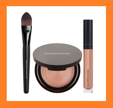 QVC ~  bareMinerals Girl on the Glow Chandelight & Gloss Set   QVC PRICE: $46.50   EVENT PRICE: $37.96  + S&H: $3.00  Includes:  0.14-oz Chandelight Glow Illuminator in Luminous Bronze  0.15-fl oz Marvelous Moxie Lipgloss in Rule Breaker  Complexion Perfector Brush  Illuminator/brush imported