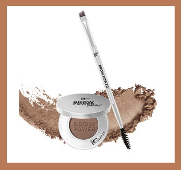 QVC ~ IT Cosmetics Brow Power Universal Brow Perfecting Powder with Brush  (Universal Taupe)  If Sold Separately: $48.00  QVC PRICE: $29.00  FEATURED PRICE: $26.36  +S&H:$3.00