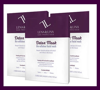 """Costco ~ (No membership needed) LENA & LINA Bio-cellulose Facial Mask 3-pack $26.99 + Free shipping (1 Sheet Mask is $13 alone at  LENA & LUNA )  (3) Bio-Cellulose Facial Mask  Available in: Stress or Detox Formulation  Rhodiola To Help """"De-stress""""  Reduces Dullness, Dryness, & Uneven Texture  Formulated Without: Parabens, Sulfates, or Phthalates"""