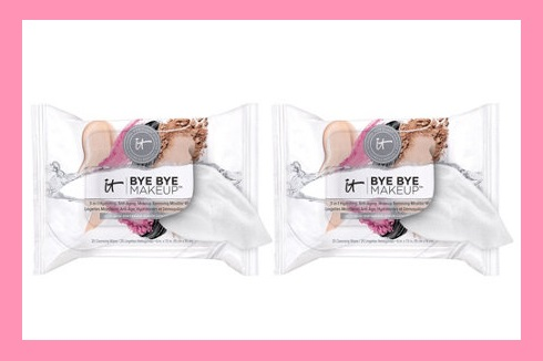 "QVC ~  IT Cosmetics Bye Bye Makeup 3-in-1 Hydrating Anti-Aging Cleansing Wipes   If Sold Separately: $28.00  QVC PRICE: $22.00  FEATURED PRICE:$19.98  + S&H: $3.00  Includes:  Two 25-count pouches of Bye Bye Makeup 3-in-1 Anti-Aging Cleansing Wipes  Wipes measure approximately 6"" x 7-1/2"""