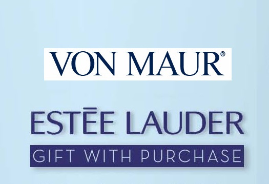 Von Maur ~  Estée Lauder  ~ Free 7-Piece Gift with any $37.50 Estée Lauder Purchase + Free Skincare Trio with any $75 Estée Lauder Purchase + Free shipping, free returns, and free gift wrapping