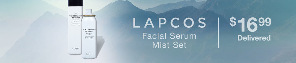 Costco (No membership needed) ~ LAPCOS Facial Serum Mist Set $16.99 + Free shipping (1 1.69 oz. spray is $16 at  Anthropologie ) You're getting over 5.5 ounces for only $16.99!   Features:  Available Combinations: 120ml Pink Essence + 50ml Blue Water Or 120ml Pink Essence + 50ml Pink Essence  For All Skin Types  Rehydrates & Tones  Can Be Used At Any Time  Sets Makeup