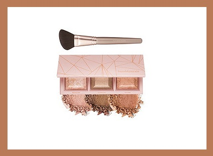 QVC ~  bareMinerals Crystalline Glow Bronzer & Highlighter Palette w Brush    If Sold Separately: $58.00  QVC PRICE: $42.50  FEATURED PRICE: $38.76  + S&H: $3.00  Includes:  0.27-oz bareMinerals Crystalline Glow Bronzer & Highlighter Palette  Blooming Blush Brush