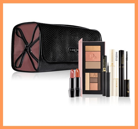 Macy's ~ Lancôme ~  7-PC. COLLECTION  ~ 6 full-size best sellers and a makeup case for only $45.00 with any Lancôme purchase ($224 value) + Free shipping and returns on any beauty order
